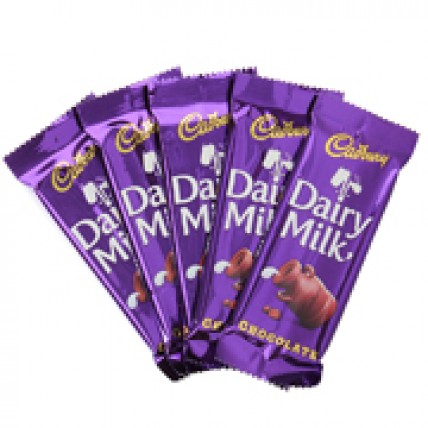 5 Cadbury chocolate 14gms