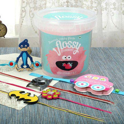 Candy Floss With Five Rakhi