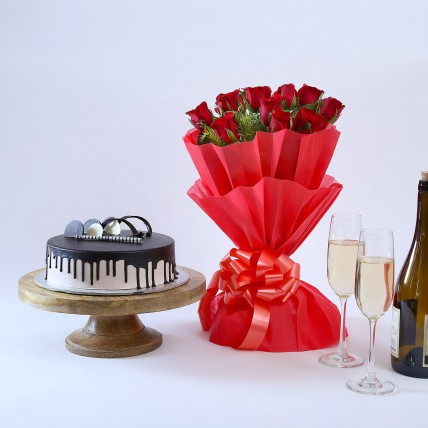 Beautiful Red Rose Hamper
