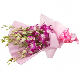 Splendid Purple Orchids Bouquet