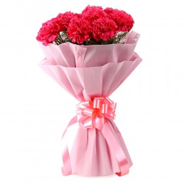 Passionate Pink Carnations Bouquet