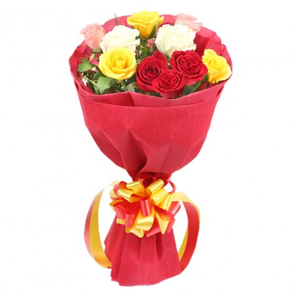 Mixed Roses Romantic Bunch