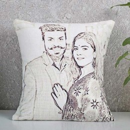 Personalized Couple Sketch Cushion