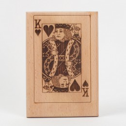 Playing card engraved plaque