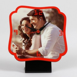 Personalized Red Table Clock
