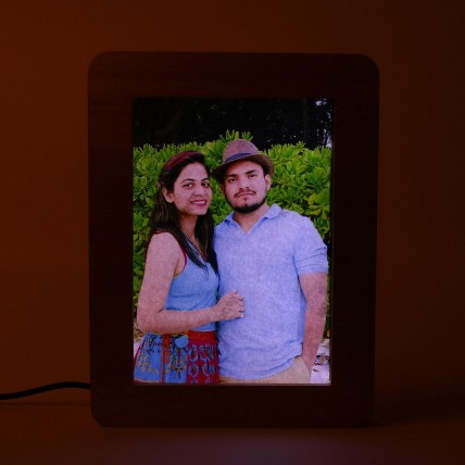 Personalized LED Wooden Frame