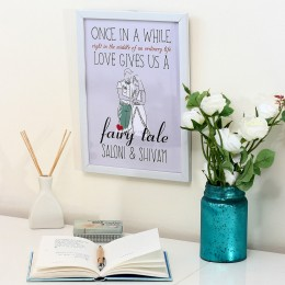 Personalised Fairy Tale White Frame