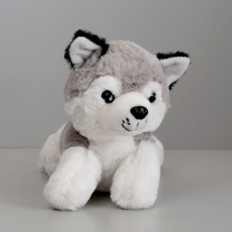 Grey dog soft toy