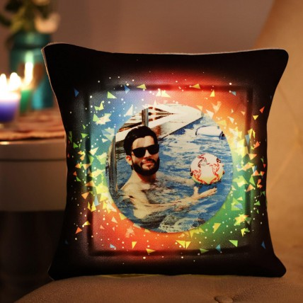 Personalised Colourful LED Cushion
