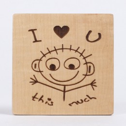 Engraved I Love You Table Top