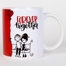 Valentines Forever Together Ceramic Mug
