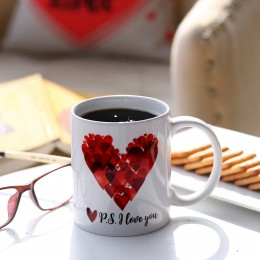 Valentines P S I Love You Printed Mug