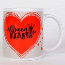 Valentines Queen Hearts Printed Mug