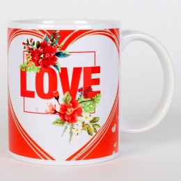Valentines Red & White Love Mug