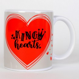Valentines King Hearts Printed Mug