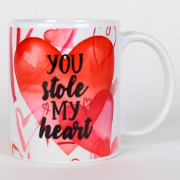 Valentines You Stole My Heart Mug