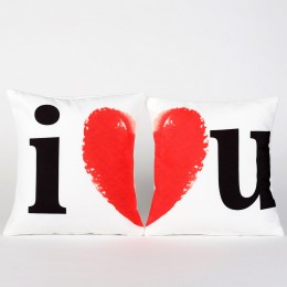 Valentines I Heart You Cushion Set