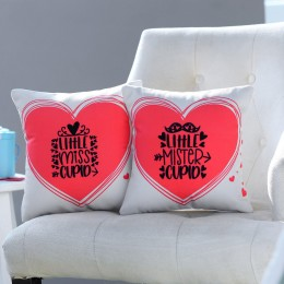 Valentines Little Mr. & Ms. Cupid Cushion Set