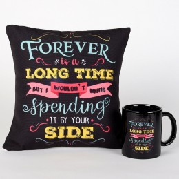 Valentine Forever By Your Side Cushion & Mug Combo