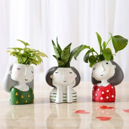 Set of 3 Air Purifying Plants In Raisin Pots