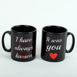 2 Ceramic Black Mugs