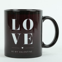 Love Ceramic Black Mug