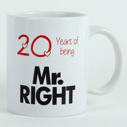 Personalised Mr Right Mug