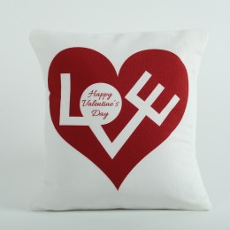 White Printed Cushion