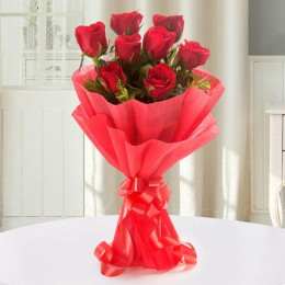 Enigmatic Red Roses Bouquet