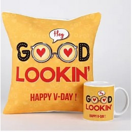Valentines Flirty Wishes Mug & Cushion Combo