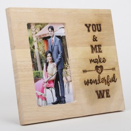 You & Me Engraved Wooden Photo Frame
