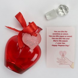 Propose Day Message in a Red Bottle