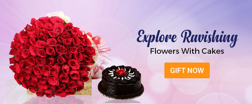 Flower  With Cake