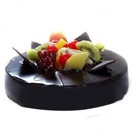 Chocolate Fruit Gateau  Eggless