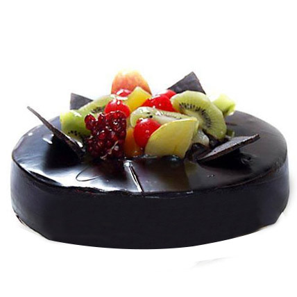 Chocolate Fruit Gateau 2kg Eggless