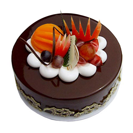 Fruit Chocolate Cake 1kg Eggless