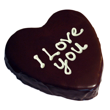 Heart Chocolate Cake 1kg Eggless