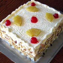 Special Fresh Fruit Cake  Eggless