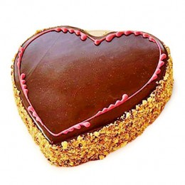Chocolaty Heart Cake  Eggless