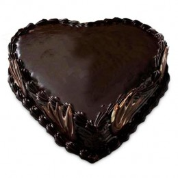 Heart Shape Truffle Cake  Eggless