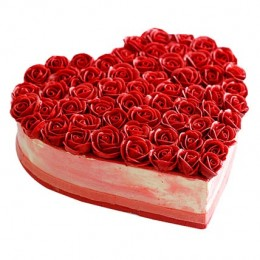Rose Cake  Eggless