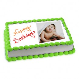 3kg Photo Cake Pineapple Eggless