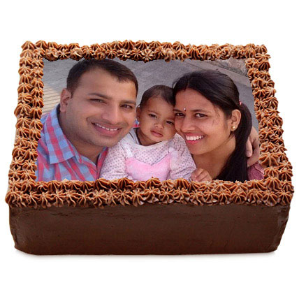 Delicious Chocolate Photo Cake  Eggless