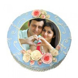 Photo Cake Eggless