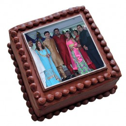 Photo Square Chocolate Cake  Eggless