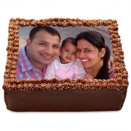 Delicious Chocolate Photo Cake