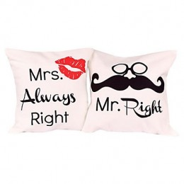 Mr & Mrs Right Cushions