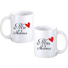 Mr. & Mrs. Personalized Couple Mugs