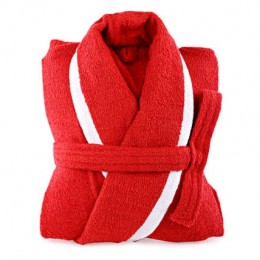 Red and White Bathrobe For Her
