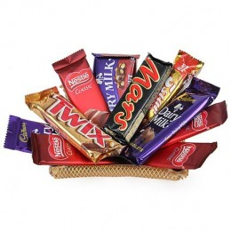 Golden Tray With Chocolates